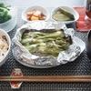塩鮭のマヨチーズホイル焼きと茅乃舎だしの鮭ご飯/おからのチーズオンハンバーグ(´・ω・`)