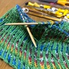 Opalの毛糸でイギリス編みに挑戦!