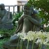 羅漢像と彼岸花「香林寺」