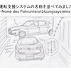 ドイツ車とマツダ車の運転支援システムの名称を並べてみました