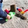 【室内用砂遊び】キネティックサンドはフローリングでやらない方がいい