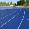 新オープンの練馬総合運動場公園トラックは青タータン