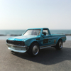 '72 DATSUN 620に乗って、海岸散策。