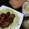 ソースカツ丼、人参春雨炒め、味噌汁