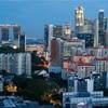 シンガポール街歩き#183(ベイエリア遠景・黄昏時)