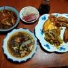 幸運な病のレシピ( 2247 )夜:メバチマグロ・イカ刺身、手羽先カレー炙り、汁(切り昆布)