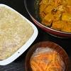 餃子味、スープ、かぼちゃ煮物