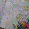 完成☆色鉛筆とゲルインクボールペンでメルヘン風に森ラプの見開きページを塗ってみた(題名長すぎ問題