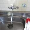 台所シングルレバー混合水栓器具の取替