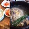 参鶏湯で再会を祝う