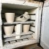 作陶備忘録 鹿頭骨の素焼き、成形、蝉脱皮鉢の釉掛け
