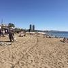 バルセロネータ海岸は、かなり暑かった。
