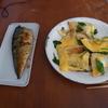 幸運な病のレシピ( 727 )昼 :サンドイッチの仕立て直(ターンオーバーオムレツタイプ)、塩サバ