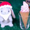【ウチカフェ あまおう苺ワッフルコーン】ローソン 12月3日(火)新発売、コンビニ アイス 食べてみた!【感想】