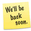 Apple StoreのWe'll be back soon.