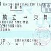 天橋立→東舞鶴 乗車券