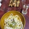 日本酒飲みながら焼き鳥と、うどん