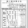 GMO NIKKO株式会社 第11期決算公告