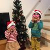 クリスマスツリー 家族の合作
