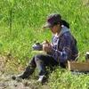 お米の脱穀と水分測定
