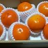 銀行から届いた果物一箱
