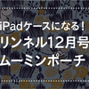 【雑誌付録レビュー】ムーミンのポーチがiPadカバーケースに!10月20日発売のリンネル12月号の付録がジャストフィットしたよ