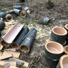 使い捨て食器を竹で作る。