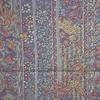 着物生地(147)縞に花鳥・古典柄本場結城紬(石下)