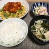 夜ごはん☆惣菜活用 豆たまのエビチリのせ お疲れモード・・・