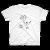 ガイコツくんとコウモリ Tシャツ