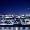 京都駅からの夜景。