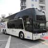 ● 京成バス、バリアフリーに対応した2階建て新型バスを披露…2年の検討を経て導入へ