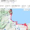 自宅からシリパ山までトレラン22km