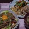 揚げ豆腐の月見そぼろかけ~晩御飯の記録~