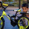 自転車に乗る練習をしました