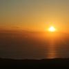 鳥海山の上で夕日を眺めた