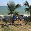 ホアヒンからチャウエンビーチまでも自転車に乗って!!