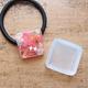 【UVレジン作り方】正方形のボタニカルヘアゴムを作る