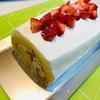 いちごシャーベット、グレープフルーツシャーベットとロールケーキ作りました
