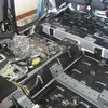 CX-5のロードノイズ低減防音施工・フロア~リアタイヤハウス