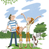 新緑の公園へ家族でお散歩、深呼吸してのんびり過ごそう😊