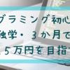 プログラミング初心者が独学・3か月で収入5万円を目指す!
