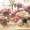 《本店1F》ピンクのローズで彩る、アンティークなウエディングコーディネート