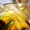 鮭ホイル焼き、絹揚げ豆腐