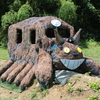 今年の宝達志水町の休耕田のトトロの隣にはネコバスがいる