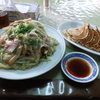 最後に野菜不足の解消しに行きました @鉾田 日和り 皿うどん(カタヤキ)と餃子