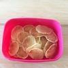 今月のお菓子作り②『レンジでポテトチップス』