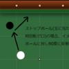 押し玉、引き玉と球の反射方向