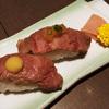 月イチ贅沢シリーズ~和牛炙り寿司ステーキランチ 二口で終了!