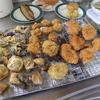 幸運な病のレシピ( 1954 )昼:鳥カツ、ホタテフライ、茄子天、塩サバ唐揚げ、ニョッキ的モッツアレラコロッケ(失敗)、後に蕎麦